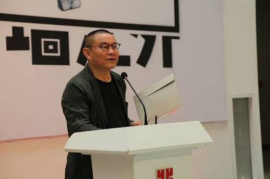 湖北美术馆艺术总监 傅中望宣布展览开幕
