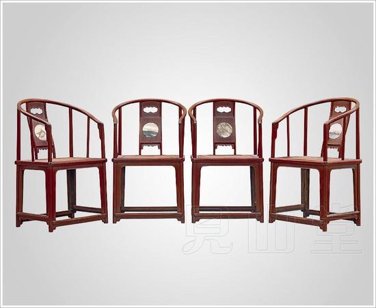 明式圈椅四件套