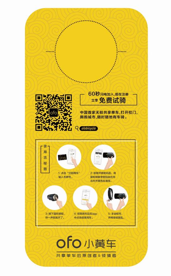 设计北京ofo专属挂牌(反)