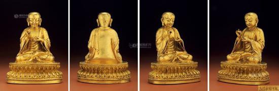 明永乐 铜鎏金地藏王菩萨-3