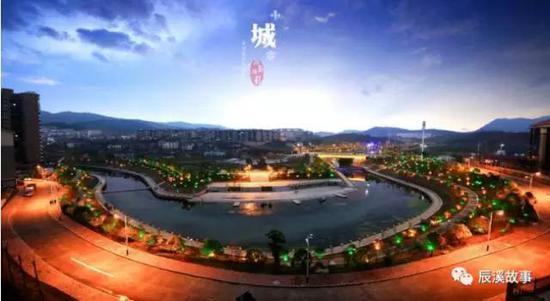 辰溪县城夜景