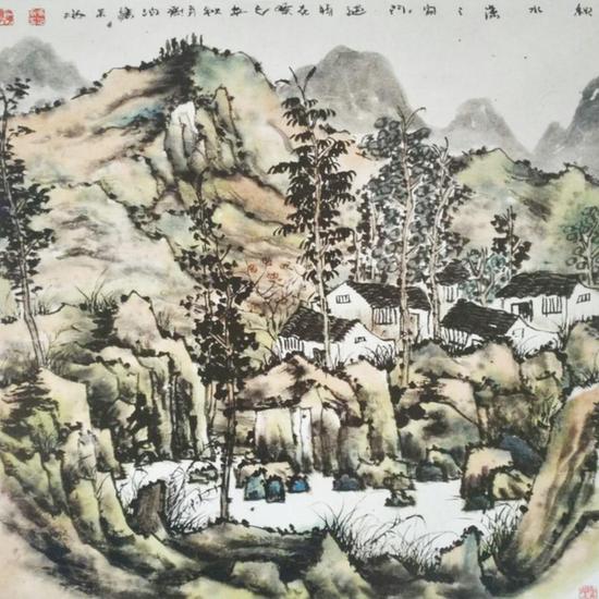 《秋水潇潇》68X68cm
