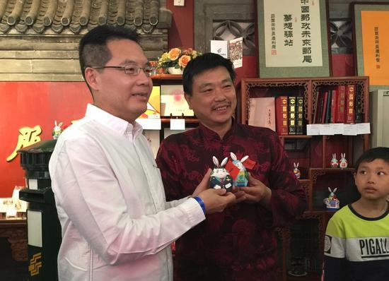 图:炯炯有神的中国质检兔儿爷在活动上亮相