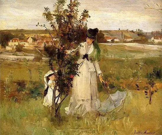 贝尔特?莫里索 Berthe Morisot - 丁香树下