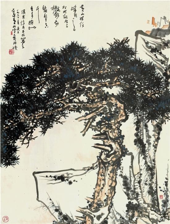 潘天寿 黄山松图轴 153×117cm 1960年