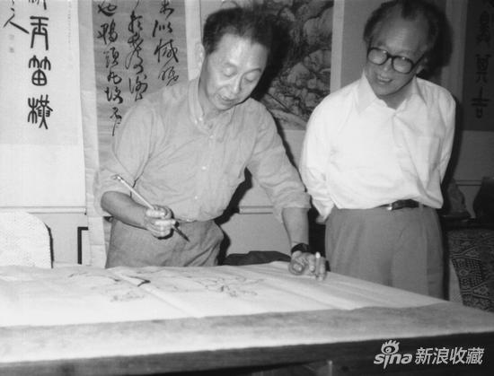 左起:黄永玉 许麟庐