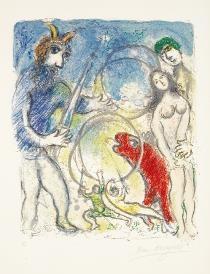 夏加尔 在神的土地上 美国柏文画廊