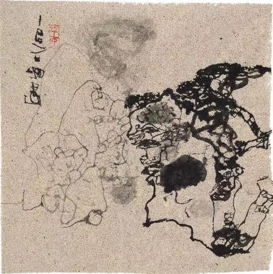 石虎书法 56 x 50cm 石虎个展