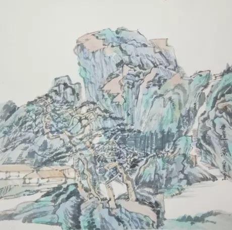 徐勇民《山林遥想·2015之二》33×33cm  2015 湖北中佳文化