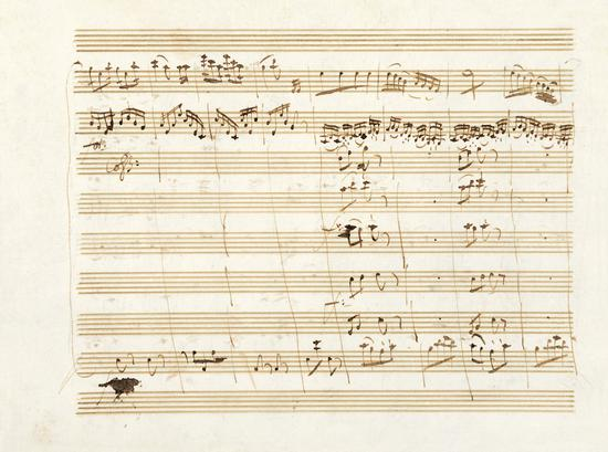 莫扎特 D大调小夜曲 乐谱原稿将上拍嘉德春拍