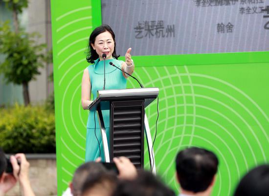 台湾画廊代表王雪沼女士致辞