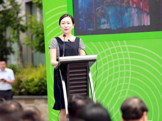 十竹斋艺术研究中心秘书长宋雪薇女士致辞