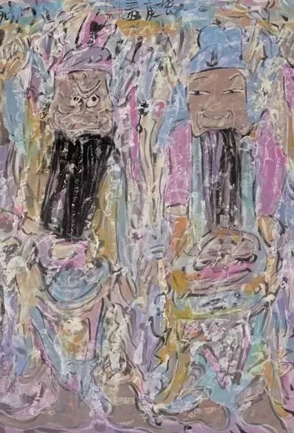 《戏剧人物》年代:2006 规格:46×34cm 品类:中国画