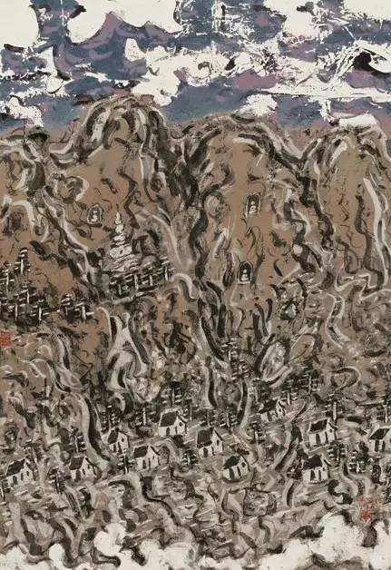 《山水》年代:2008 规格:34×46cm 品类:中国画