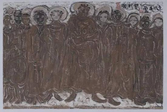 《梵行图》年代:2011 规格:46×69cm 品类:中国画