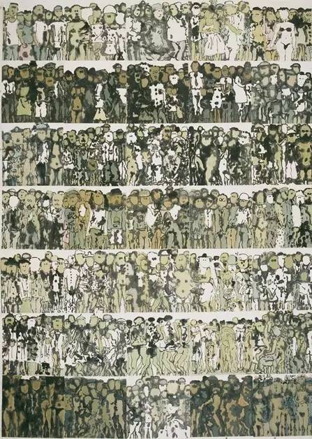 《众生相》年代:2004 规格:245×173cm 品类:中国画