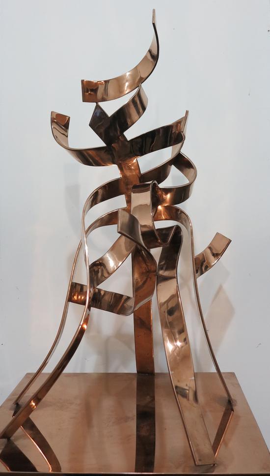 刘永刚《天降大杭》不锈钢镀钛,50x40x60cm ,2009