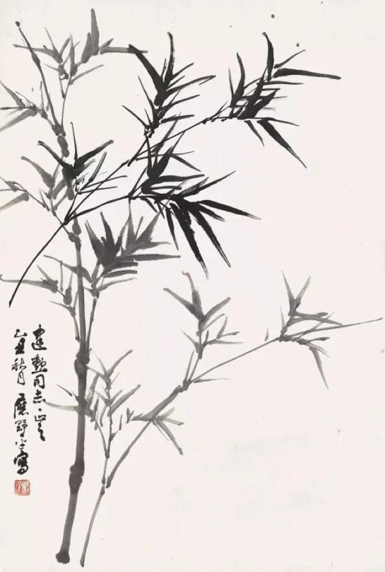 Lot444  应野平 (1910-1990) 慈竹春阴  镜心 水墨纸本 1985年作  68.8×45.5cm. 约2.8平尺