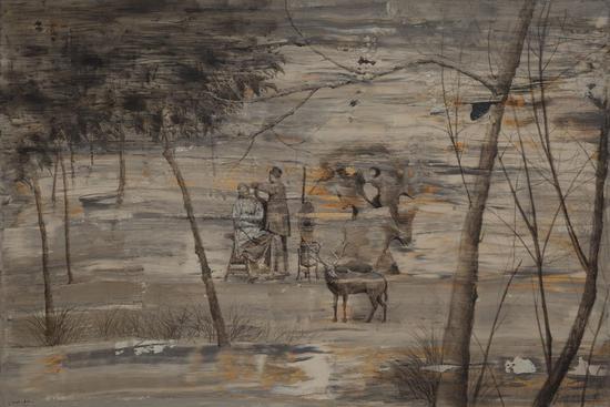 《流年 》 100x150cm  布面丙烯、油画  2016