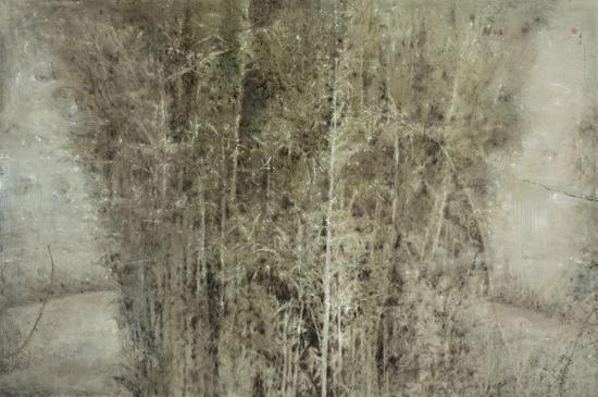 《乱竹之音》 100x150cm  布面油画  2013