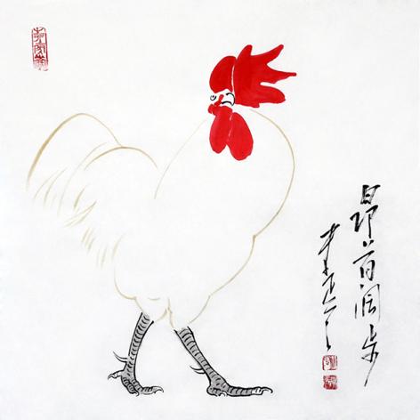 昂首阔步( 69*70cm)