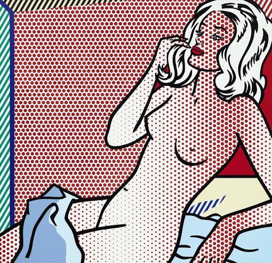 罗伊·里奇腾斯坦的《裸体日光浴》(1995)。图片:Estate of Roy Lichtenstein