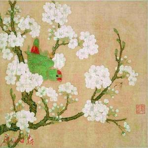 宋 《梨花鹦鹉图》