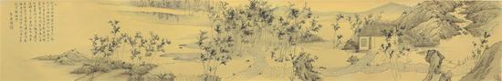 《寻春图》 35cmx175cm 泥金纸 2017年