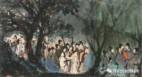 傅抱石一生只画过这一幅《丽人行》,但自傅抱石画作拍出千万元后,世间已至少冒出四幅《丽人行》。