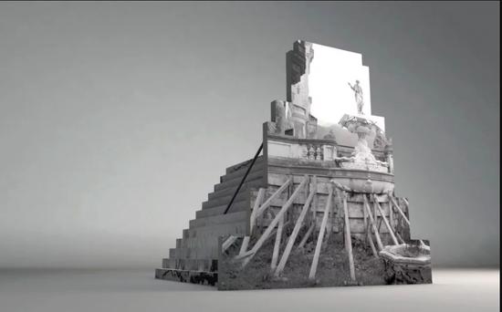 柏林Peles Empire画廊的项目草图。图片:致谢Münster Skulptur Projekte