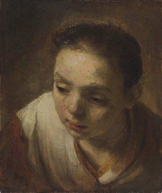 伦勃朗,女子头部,1645