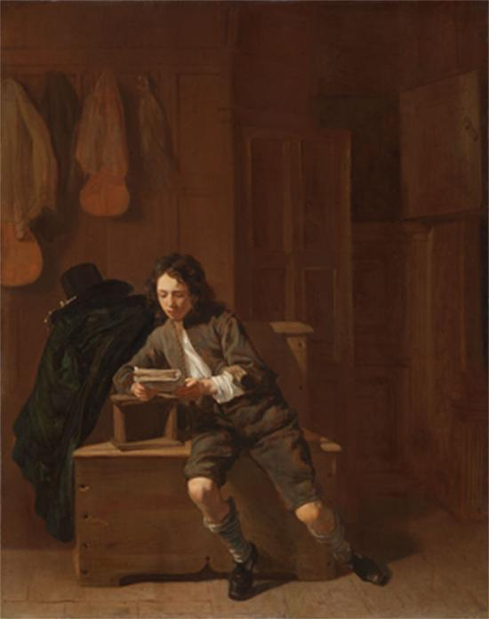 Jacob van Loo,阅读的男子, 1650