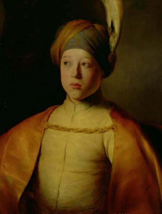 扬·列文斯,戴斗篷和头巾的男孩,1631