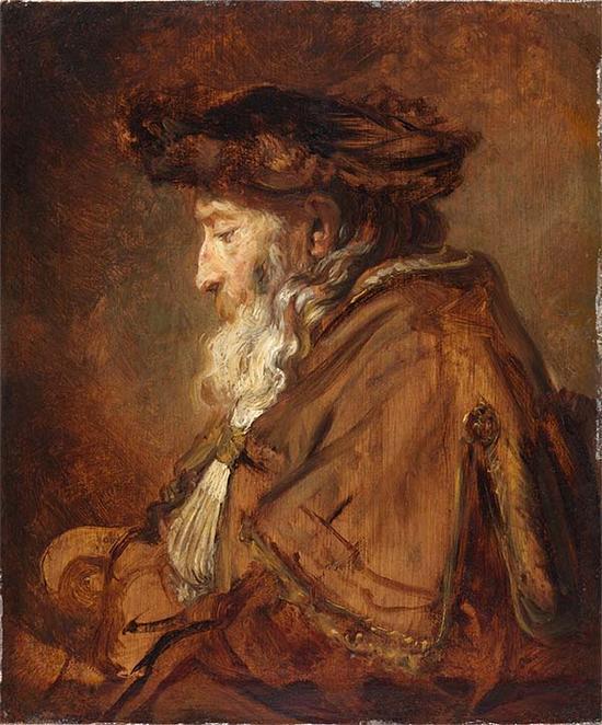 伦勃朗,老年男子肖像,1645