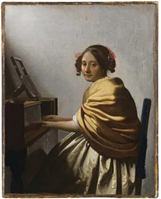 维米尔,静坐的女子,约1670-1672