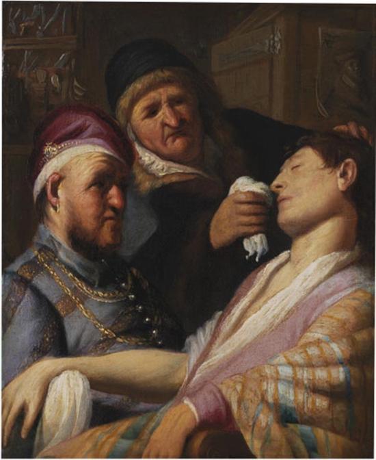 伦勃朗,无意识病人—气味预言,1624