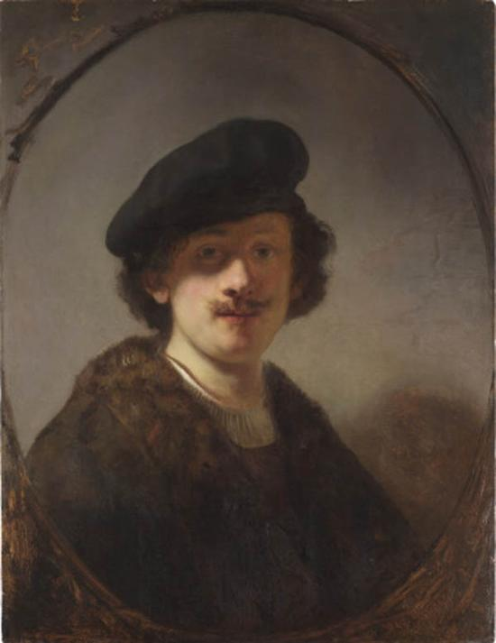 伦勃朗,自画像(28岁),1634