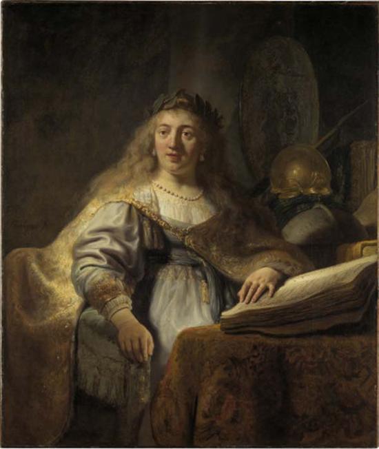 伦勃朗,阅读的智慧女神,1635