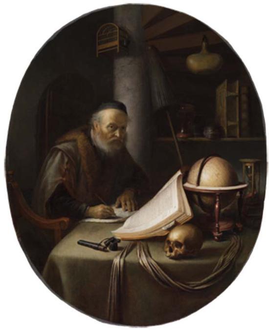 格里特·德奥,写作的学者,1635