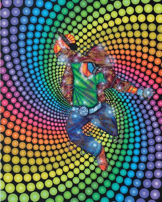 罗丹《摇滚狂潮之一》布面油画,200×160cm,2015