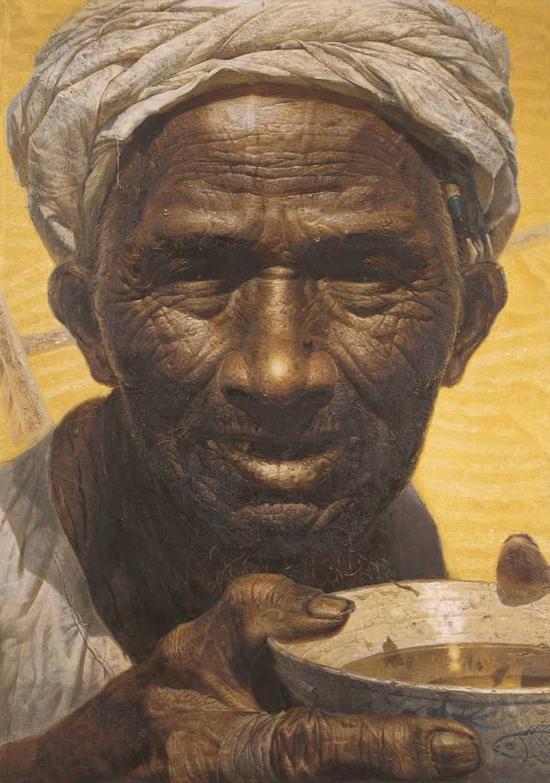 罗中立《父亲》油画,216x152cm,1980,中国美术馆收藏
