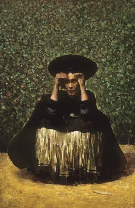 庞茂琨《苹果熟了》布面油画,150×100cm,1983