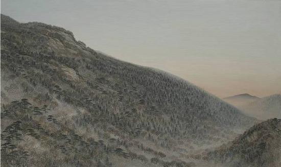 曹敬平《香山秋晚》布面油画,90×150cm,2014