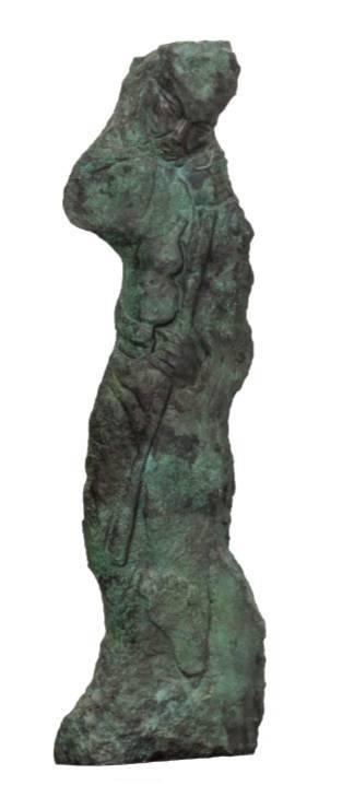 叶毓山《八仙之铁拐李》青铜,46×27×160cm,2008