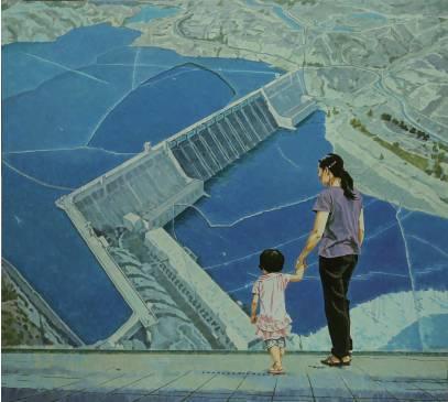 张斌《大坝》油画,200×180cm,2010