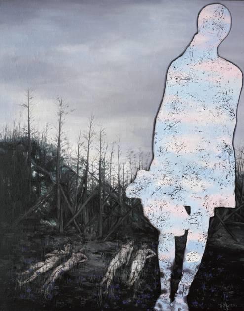厉宏伟《消失的记忆》布面丙烯,145×115cm,2013