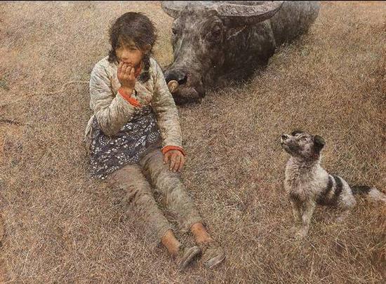 何多苓《春风已经苏醒》布面油彩,95×129cm,1982,中国美术馆收藏