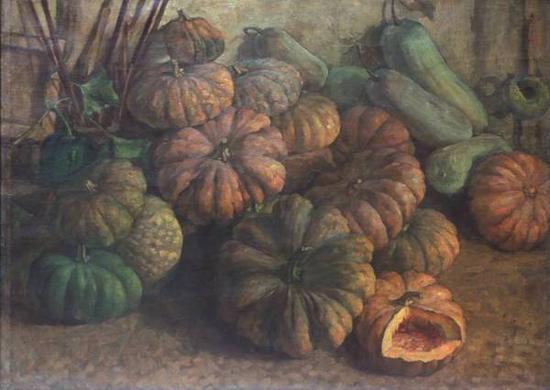 刘艺斯《南瓜》布面油画,85×114cm,1950