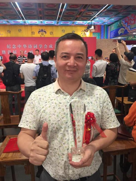 诗书画类一等奖获得者陈楚明