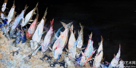 陈列品No.1 100×50cm 布面油画